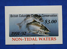 Canada (BCSC03) 1991 British Columbia Salmon Conservation Stamp (MNH)