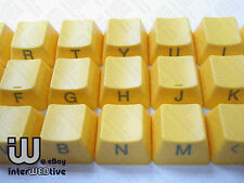 Yellow color 37 Keycaps with Gray text on side for Cherry MX Series keyboard