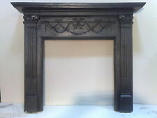 original victorian cast iron fireplace mantel/surround. 2 X MATCHING AVAILABLE