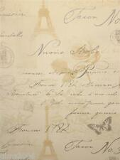 Calligraphy Neutral French Themed Wallpaper 97750