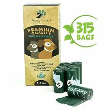 Happy Tails 315 Dog Poop Bags | 21 rolls | Biodegradable Poo Bags For Dogs | ...