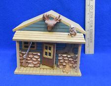 Cabin Music Box Musical Figurine Hunter Door Opens Wood Wooden Long Winding Road