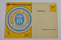 Munchner Hofbrau Coaster Postcard Original Beer Advertising Germany 1960s 1970s