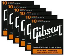 Gibson Brite Wires premium electric guitar string set 10 gauge ( 6 set deal )