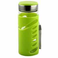 Plastic Sleeve Water Bottle Camping Cup Portable Driking Mug Canteen Green 350ml