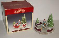 1991 Lemax Dickensvale Porcelain Large Skating Pond in box Vintage