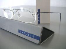 NEW! RIMLESS LINDBERG AIR TITANIUM FRAMES IN BLUE RARE PAPERCLIP HINGES, SZ.150