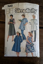 Vintage Simplicity Sewing Pattern 7645  Size 12 Maternity Dress Pants Tunic