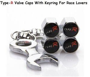 Honda Type -R Valve Stem Air Dust Cover Screw Caps Gift Street Racing Racer Gift