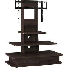 """Altra Furniture Galaxy TV Stand for 70"""" TV with Mount and Drawers, Dark Walnut"""