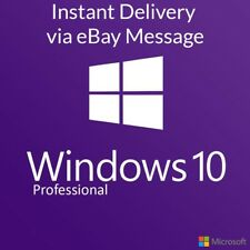 Windows 10 Pro Professional Activation Product Key Code License 32/64 Genuine