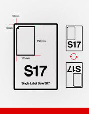 S17 INTEGRATED LABEL SHEETS FOR USE WITH EBAY SHUTL LABELS HERMES ROYAL MAIL UPS