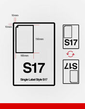 S17 INTEGRATED LABEL SHEETS A4 - Single label 150mm deep x 100mm wide- 1000