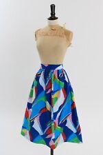 Vintage 1980s original multicoloured wrap button skirt M