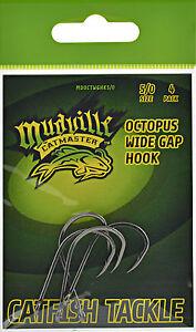 5 packs Mudville Catmaster Black Widegap Octopus Fish Fishing Hooks 5/0