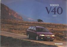 VOLVO V40 Betriebsanleitung 1997 Bedienungsanleitung Handbuch Bordbuch  BA