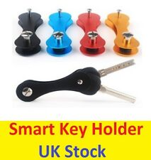 2 Black Smart Key Holder Keyring Organiser Aluminium Pocket Keychain Pocket Tool