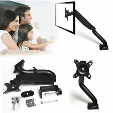Single Arm TV LCD LED Monitor Desk Bracket Mount Stand Swivel Gas Spring 17-27""