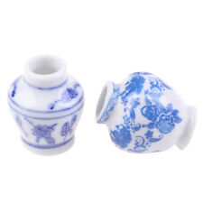 1/12 Dollhouse Miniature Blue and white porcelain vase Accessories Toy