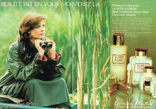 PUBLICITE ADVERTISING 055  1979  GERMAINE MONTEIL   Ligne SUPER MOIST ( 2 pages)
