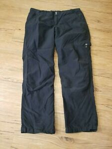 Columbia Womens Pants Size Large (36 X 31) Nylon Blend Flannel Lined Black