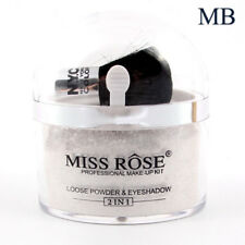 Smooth Loose Powder With Brush Hilighter Glitter Face Eyeshadow Contour Palette Silver