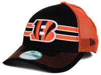 Cincinnati Bengals Era 9forty FRONTBAND NFL Team Logo Trucker Cap Hat