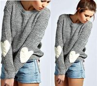 Women Long Sleeve Knitted Sweater Loose Solid Cardigan Casual Tops Outwear Coat