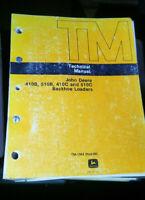 John Deere BACKHOE LOADER 410B 410C 510B 510C TECHNICAL REPAIR MANUAL TM-1364