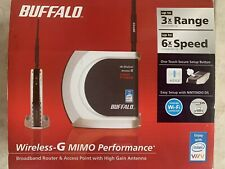 Buffalo Wireless-G High Power Broadband Router With High Gain Antenna NEW