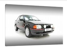 Ford Escort XR3i - 30x20 Inch Canvas - Framed Picture Poster Print