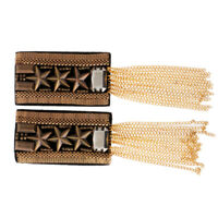 Charms Star Chain Tassel Uniform Epaulet Shoulder Board Badge Silver/Gold