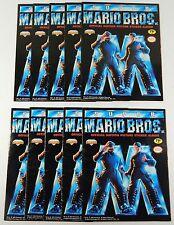 Lot of (10) 1993 Super Mario Bros The Movie Sticker Albums ^ Unused Nintendo NES
