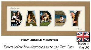 Daddy Name Photo Frame  A Girl's first love is her Daddy Photos in a Word 574A