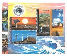 INDIA 2007 Renewable Energy Environment Conservation Solar Wind  Miniature sheet