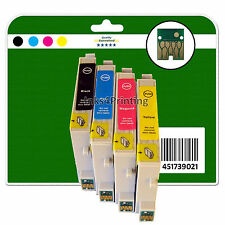 4 Ink Cartridges for Epson DX3800 DX3850 DX4800 DX4850 non-OEM E611-4