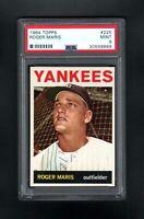 1964 TOPPS #225 ROGER MARIS NEW YORK YANKEES PSA 9 MINT++CENTERED!