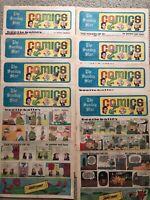 Lot Of 8 x MANDRAKE THE MAGICIAN 1968 1969 Newspaper Sunday Color Comics Strips