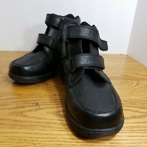 OrthoFeet 581 2 Strap Leather High Ankle Comfort Diabetic Shoes Men's US 9.5 4E