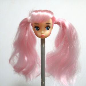 1/8 Doll Head OOAK Hand Rooted Hair Face Painted