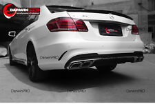 2014-2016 Mercedes Benz W212 E Class E63 AMG Packge Diffuser+Tips Body Kit