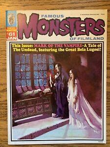 FAMOUS MONSTERS OF FILMLAND #61 VF-(MARK OF THE VAMPIRE) 1970