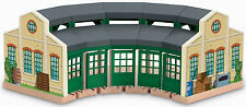 THOMAS TANK ENGINE Wooden Railway Tidmouth Sheds Roundhouse Like NEW