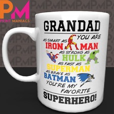 GRANDAD SUPERHERO MUG CUP 11OZ BIRTHDAY CHRISTMAS FATHER'S DAY DAD GIFT