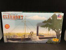 Lindberg Fulton's Clermont Side-Wheel Powered Steamboat 1:96 Sc Model Kit Hl200