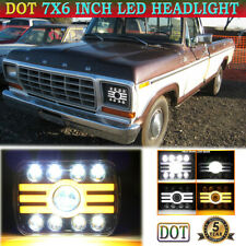 7x6 5x7 LED Headlight with Amber Turning Light DRL for Ford F-150 F-250 F-350