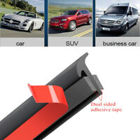 5M Car Rubber Sealing Strip Slanted T-Type For Front Rear Bumper Lip Side Skirt