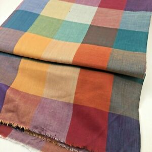 FALL Plaid Sewing  4 Yards 44 Inches Wide Rust, Purple, Orange, Teal, Gold