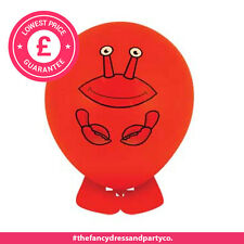 1 x Crab Colourful Balloon Head Animals Assorted Designs Party Bag Fillers