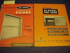 St. Louis Fire Door Co. 1950's Catalog 2 L Navy U S Army Asbestos